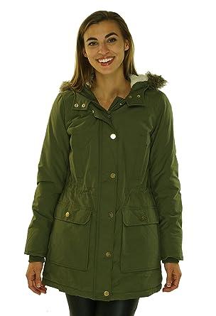 : Tommy Hilfiger Womens Hooded Fur Trim Parka
