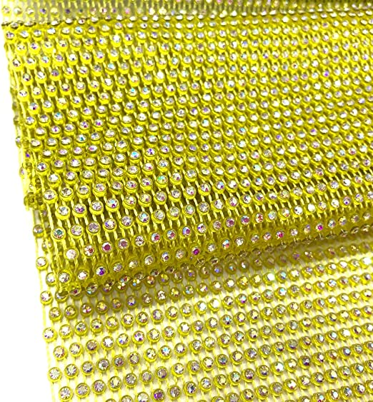 Rhinestone fabric 36 inches long 18 rows   Beautiful Rhinestone Stretchy and not stretchy