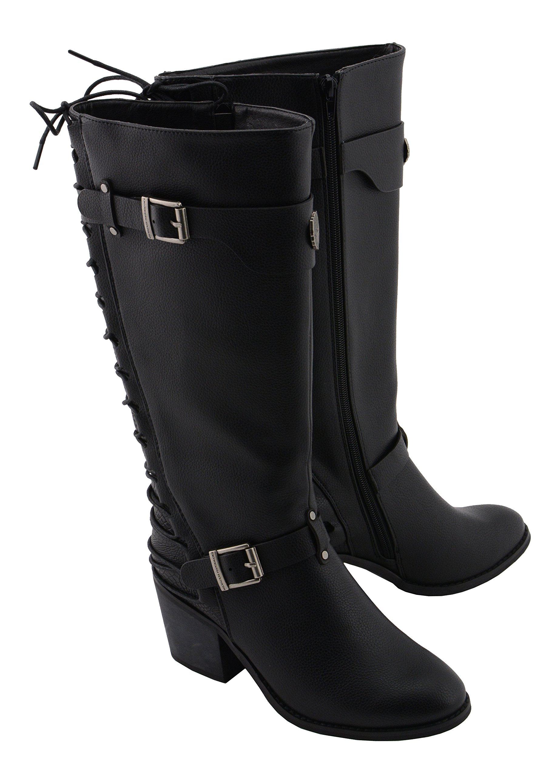 Milwaukee Performance Women's Back End Laced Riding Boot (Black, 9)