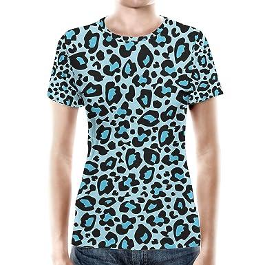 303cabde Queen of Cases Bright Leopard Print Blue - XS - Women Sport Mesh T-Shirt