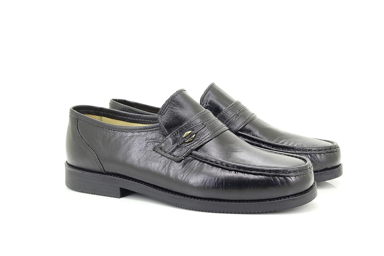 Roamer - Mocasines de cuero para hombre, color negro, talla ...