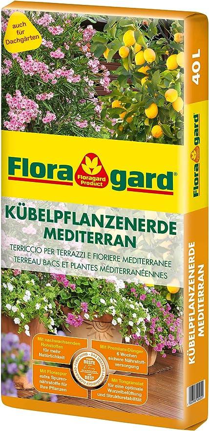 Floragard Kübelpflanzenerde macetas, tonos tierra: Amazon.es: Jardín