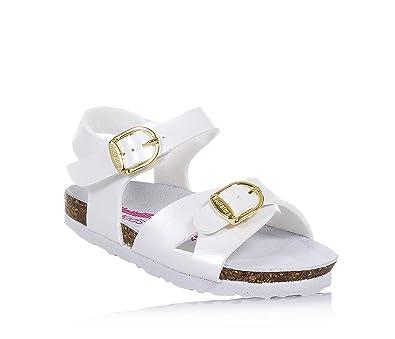 BIONATURA - Perlweiße Sandale aus Leder, ausschließlich made in Italy, aus hochwertigen, Mädchen-32