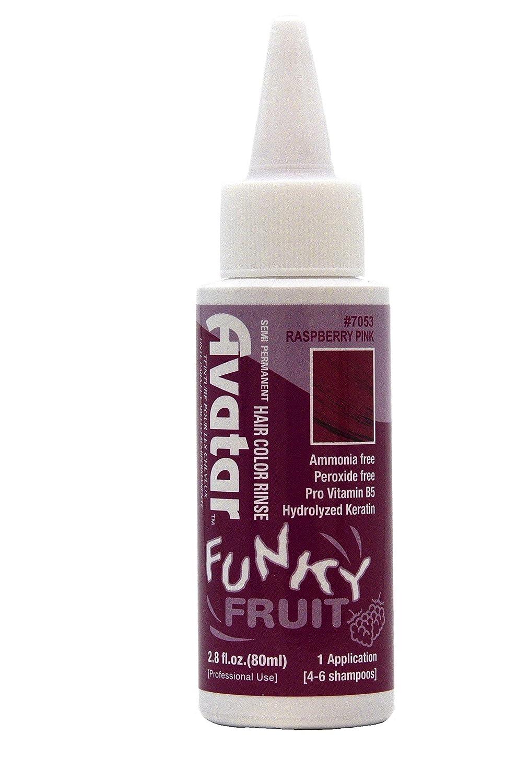 Avatar Funky Fruit Semi-permanent Hair Color Rinse 2.8 oz Raspberry Pink