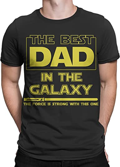 Camiseta con Texto en inglés Best Dad in The Galaxy, Force is Strong with This One