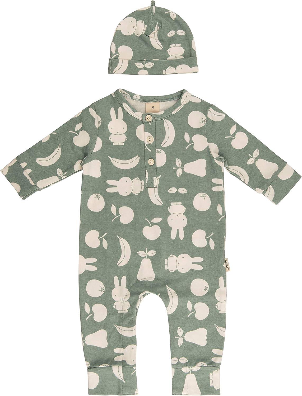 Neugeborenen Overall Baby Kleidung Jungen Strampler Set mit M/ütze Miffy