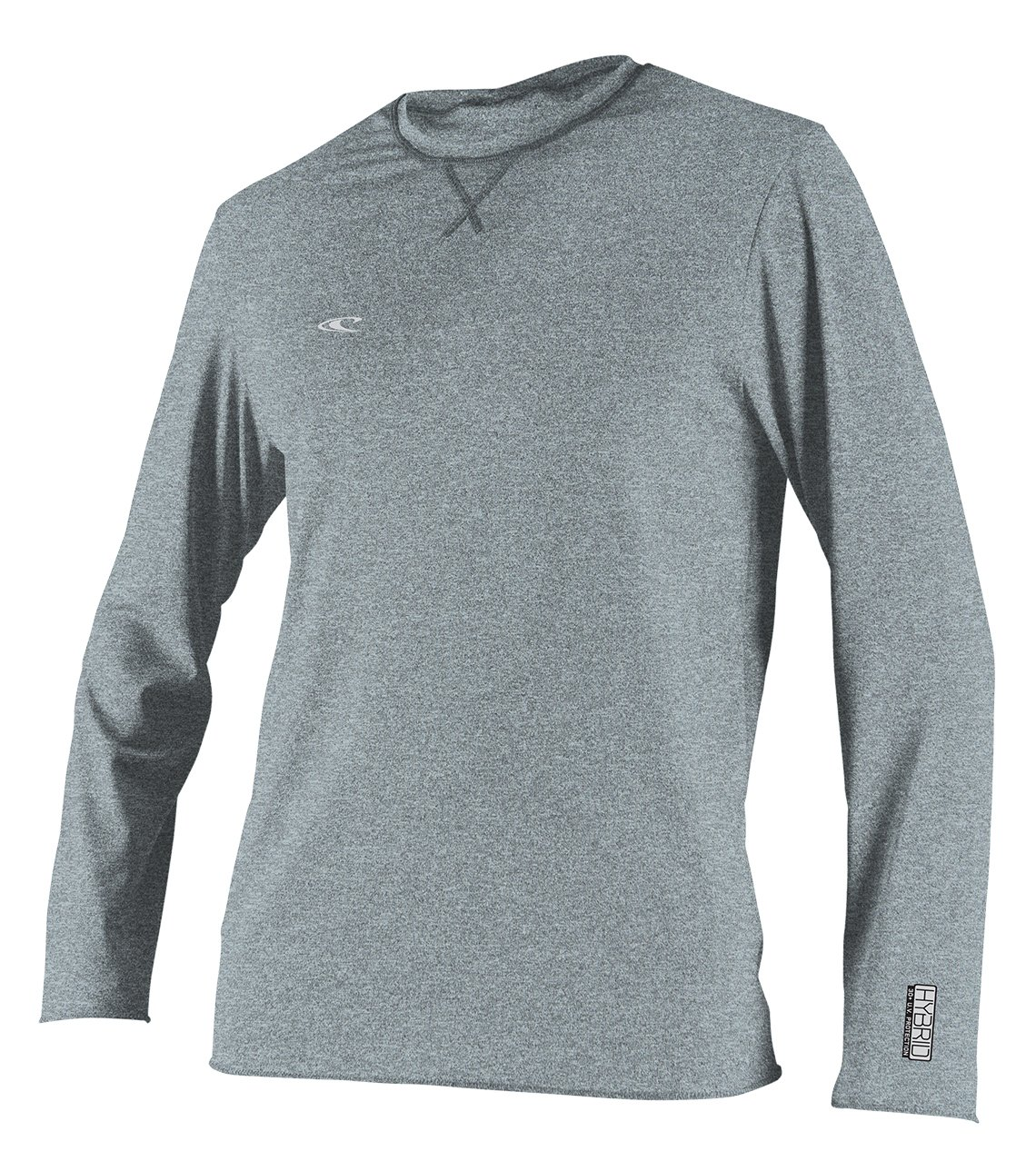 O'Neill Wetsuits Men's Basic Skins UPF 50+ Long Sleeve Sun Shirt, Hybrid Cool Grey, Small