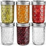 Ball Regular Mouth Mason Jars 8 oz, Set of 6 Canning Jelly Jars, With Lids and Bands, For canning, Freezing, Fermenting, Pickling, Preserving - Microwave & Dishwasher Safe + SEWANTA Jar Opener