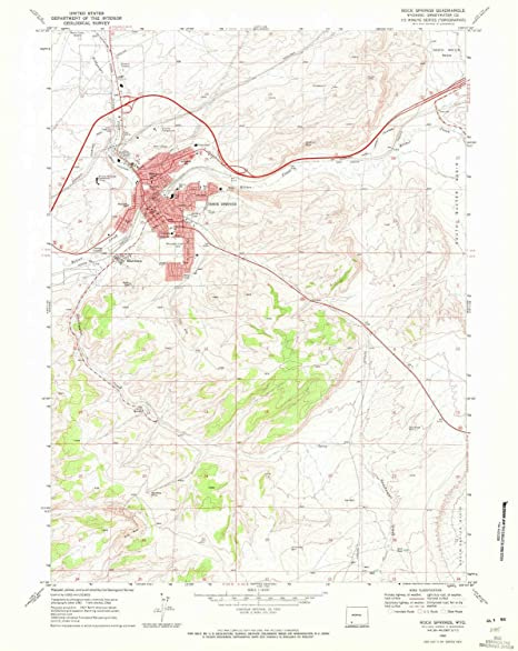 Rock Springs Wyoming Map.Amazon Com Yellowmaps Rock Springs Wy Topo Map 1 24000 Scale 7 5