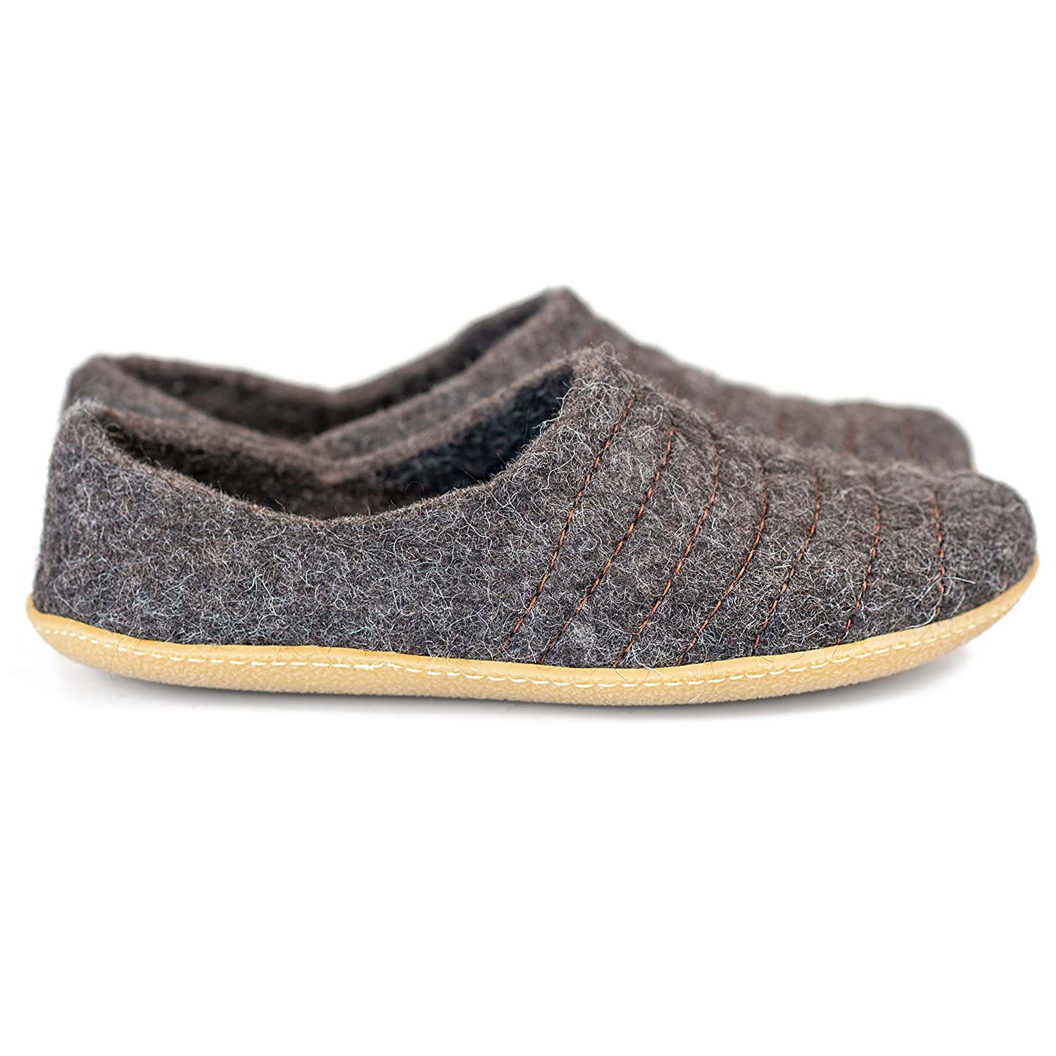 a55cffa79ea Amazon.com: BureBure Women's Wool Slippers Cocoon Dark Grey Brow ...