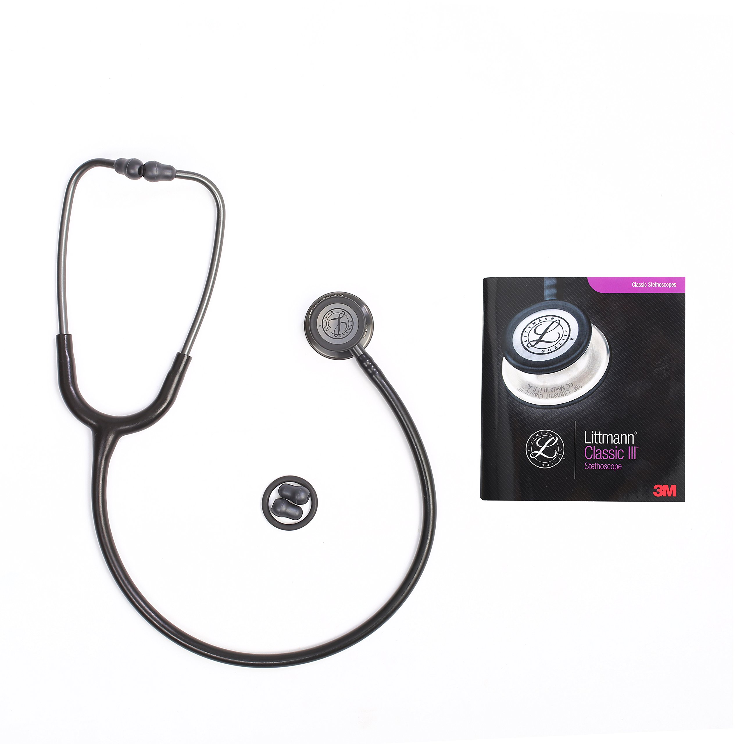Classic III Stethoscope, for Children and Adult (5620 Black Stainless)