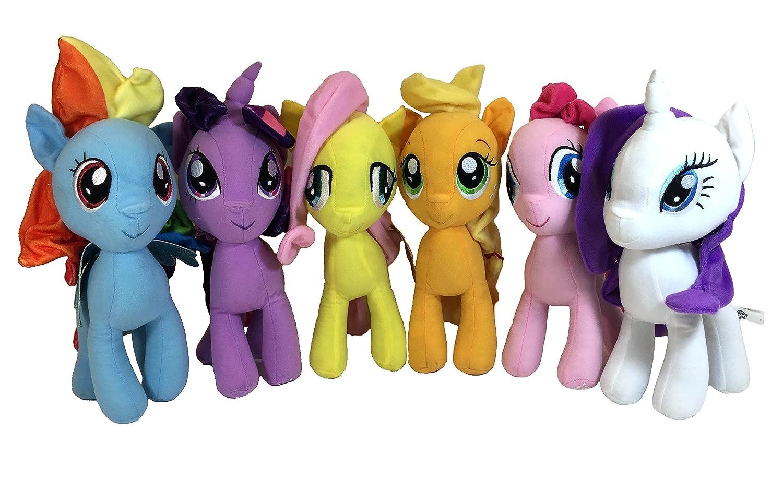 My Little pony Plush Stuffed Animal - Rainbow Dash, Twilight Sparkle, Applejack, Pinkie Pie, Fluttershy and Sweetie Belle