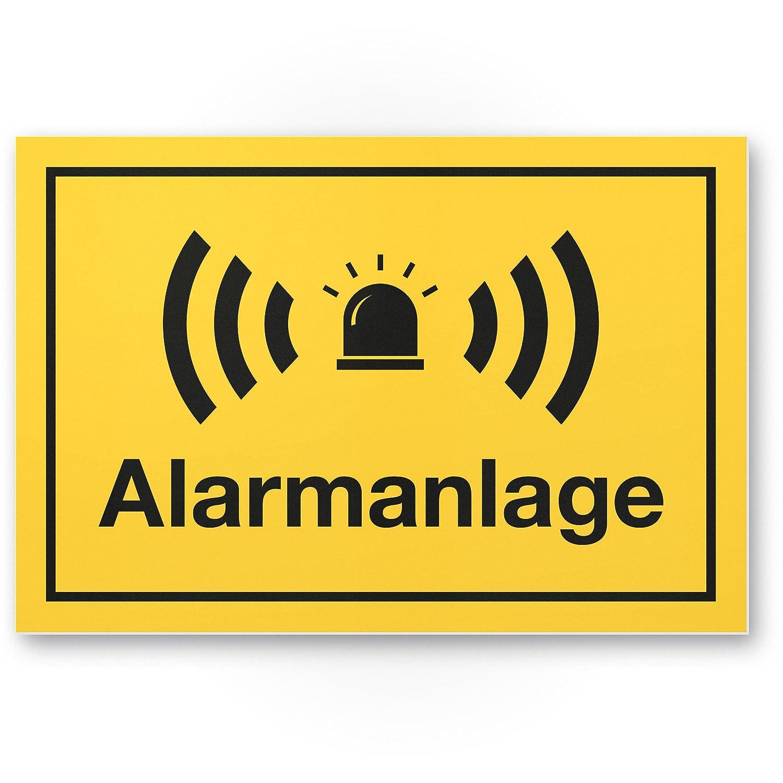Cartel de alarma (Amarillo 30 x 20 cm) - Atención/Vorsicht ...