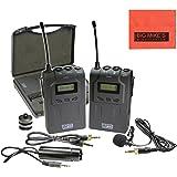 XM-W4 Pro UHF Wireless Microphone System with Lavalier for Nikon D300, D300s, D500, D3200, D3300, D600, D610, D700, D750, D800, D800e, D810, D810A, D5100, D5200, D5300, D5500, D7000, D7100, D7200 DSLR