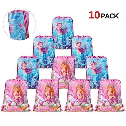 Amazon.com: Konsait - Bolsas de fiesta de sirena para niños ...