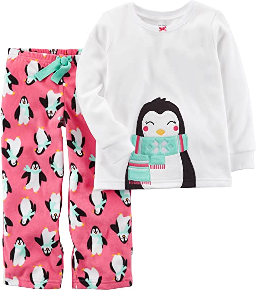 b9a4c9a0b7af Amazon.com  Carter s Baby Girls  12M-14 2 Piece Penguin Fleece ...