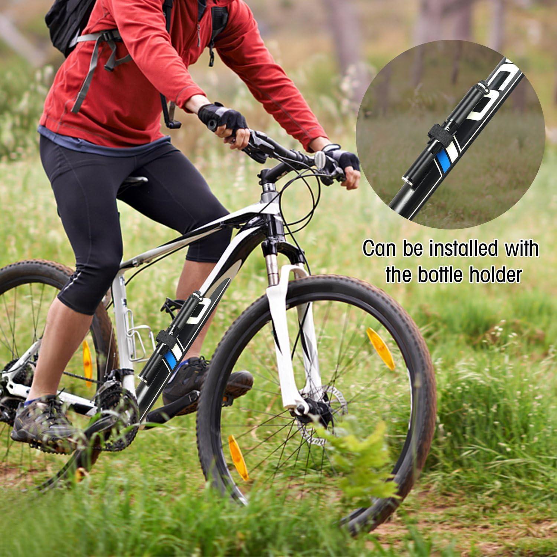 OUTAD Mini Bomba de Bicicleta Portátil 160 PSI para Bicicletas de ...