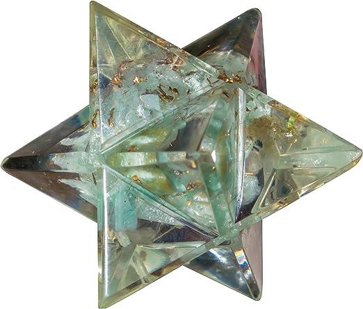 Labradorite Orgone Gemstone Pyramid Reiki Healing Crystal Energy Generator Decor