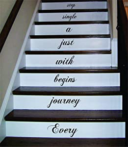 Every Journey Begins with Just a Single Step Stairs Wall Decal Sticker