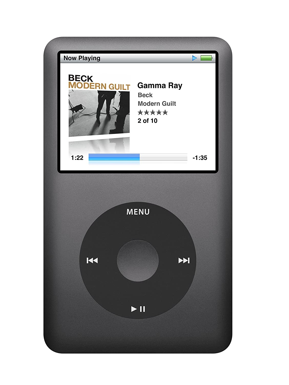 Apple iPod classic 120 GB Black 6th Generation (Discontinued by Manufacturer)