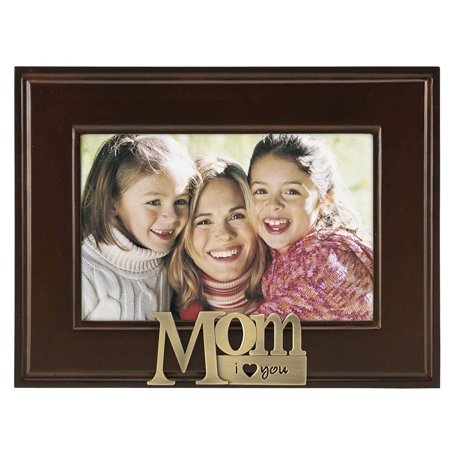 malden i heart brass word dad picture frame 4 inch by 6 inch amazonca home kitchen - Mom Picture Frames