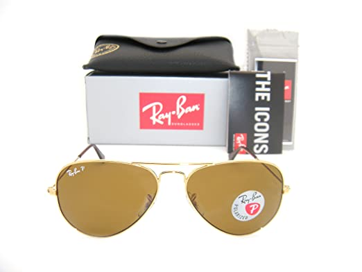 ray ban aviator 3025 gold frame brown polarized rb 3025 00157 58mm small
