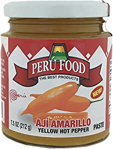 Peru Food Aji Amarillo Paste - Hot Yellow Pepper Paste - 7.5 ounces Jar