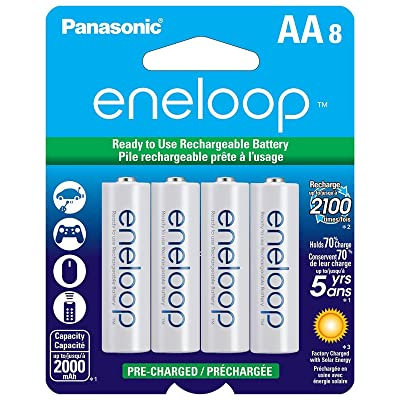 Panasonic BK-3MCCA8BA eneloop AA 2100 Cycle Ni-MH Pre-Charged Rechargeable Batteries