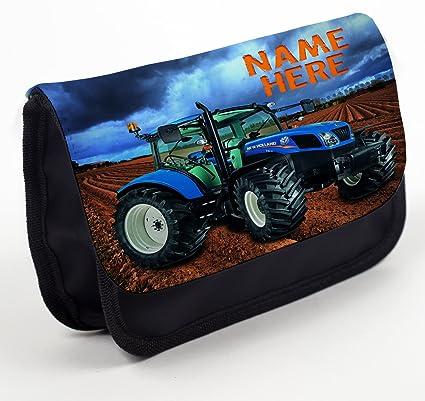 Estuche para lápices personalizado con diseño de tractor holandés, bolsa de papelería de vuelta a la escuela, regalo – negro NST001: Amazon.es: Oficina y papelería