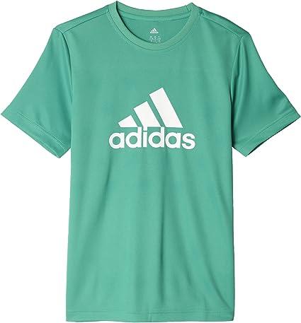 adidas YB GU Tee Maillot pour garçon, Vert (VerbasBlanc