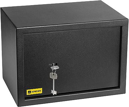 HomeSafe HV25K Caja Fuerte con Cerradura de Calidad 25x35x25cm (WxHxD), Negro Satén de Carbón: Amazon.es: Bricolaje y herramientas