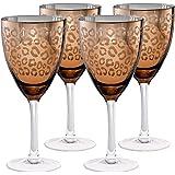 Leopard Wine Glass (Set of 4) Color: Gold