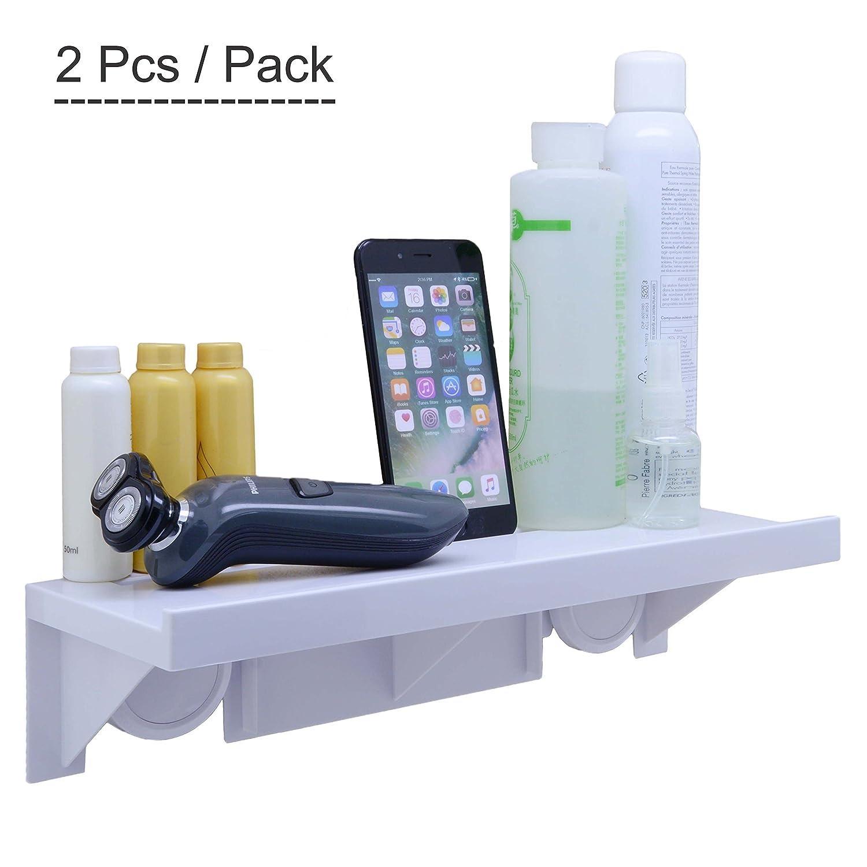 Amazon.com: OKOMATCH Bathroom Shelf Without Drill & Nail,Easy ...