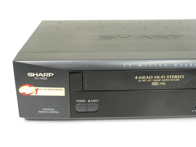 amazon com sharp vc h982u video cassette recorder player vcr vhs 4 rh amazon com Sharp ER-A170 KB Sharp 6525P5