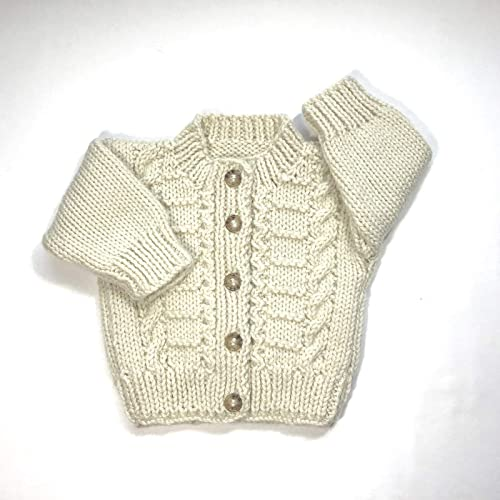 a062a95f8 Amazon.com  Handknitted baby cardigan 0 to 6 months  Handmade