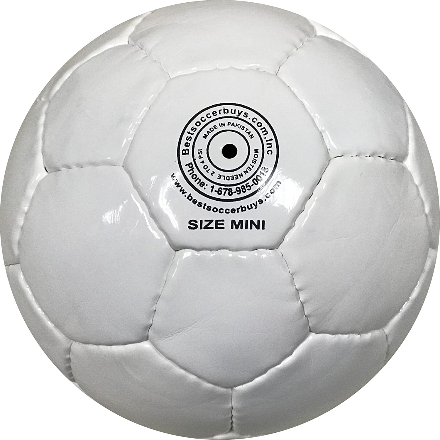 48 cm Circumference White Mini Soccer Balls Six Pack Size 1 for Practice and Kids