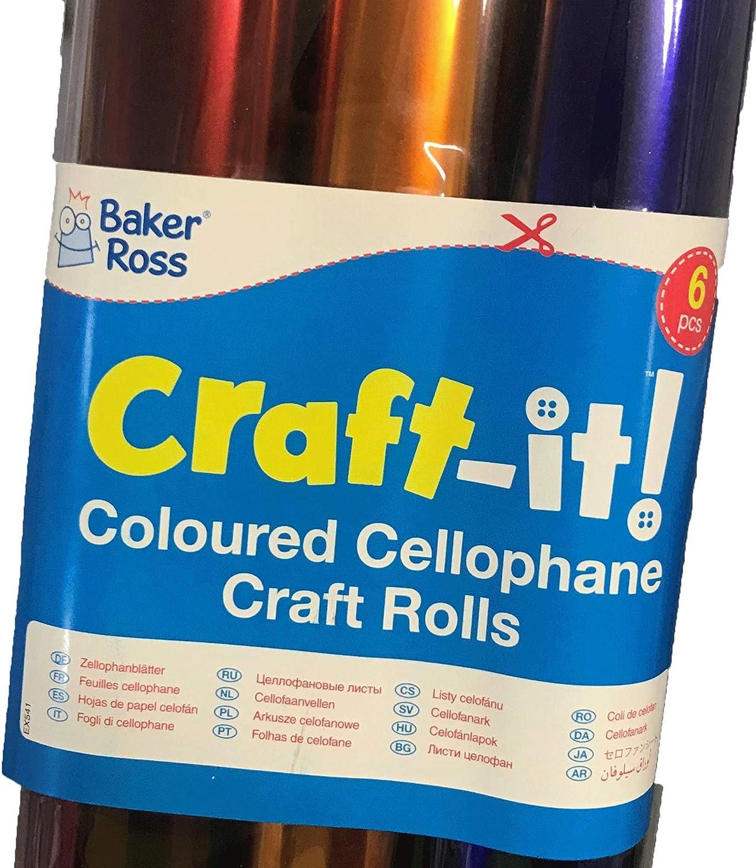 Craft cellophane 50 x 70 cm 6pk