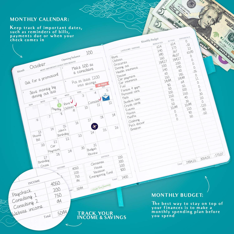 Deluxe Financial Planner Organizer & Budget Book Legend Budget ...