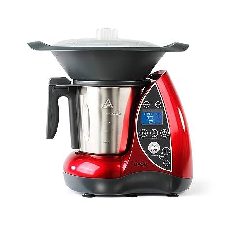 Domoclip DOP142 Küchenmaschine mit Kochfunktion, rot