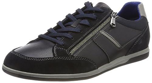 Geox U Renan C, Zapatillas para Hombre, Gris (Black/Dk Grey), 40 EU