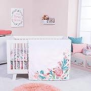 Trend Lab Painterly Floral 3 Piece Crib Bedding Set