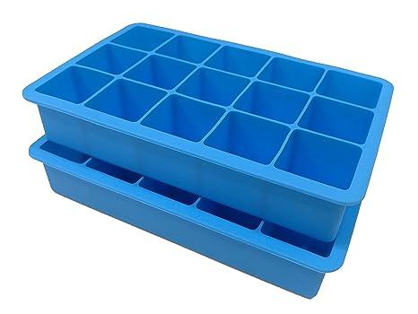 2 unidades silicona Ice Cube bandejas para hacer cubitos de 15 perfect-sized –