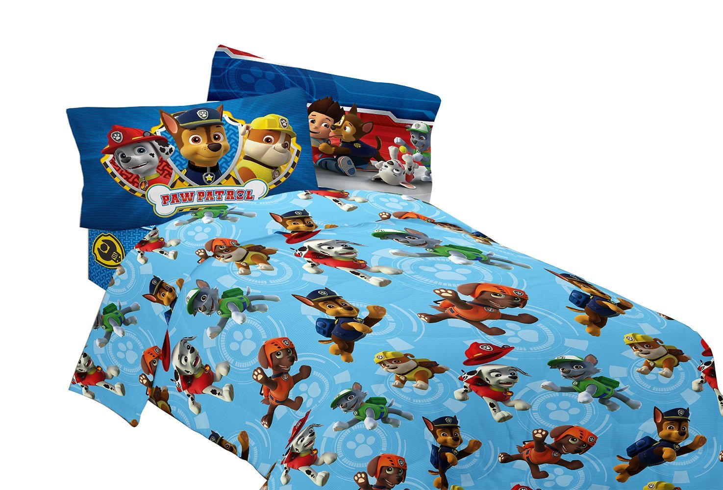 Nick Jr. Paw Patrol Adventure Bay Flannel Sheet Set, Twin