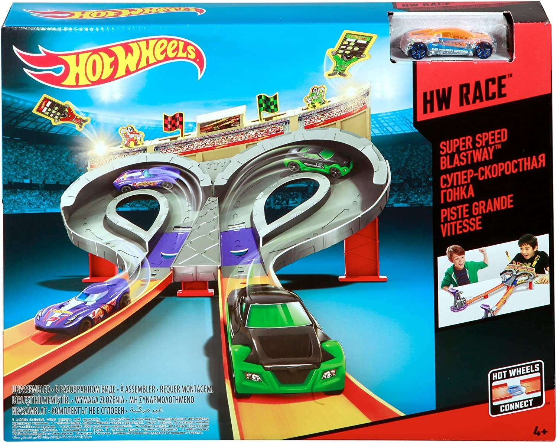 Hot Wheels CDL49 Cars Track Set Super Speed Blastway