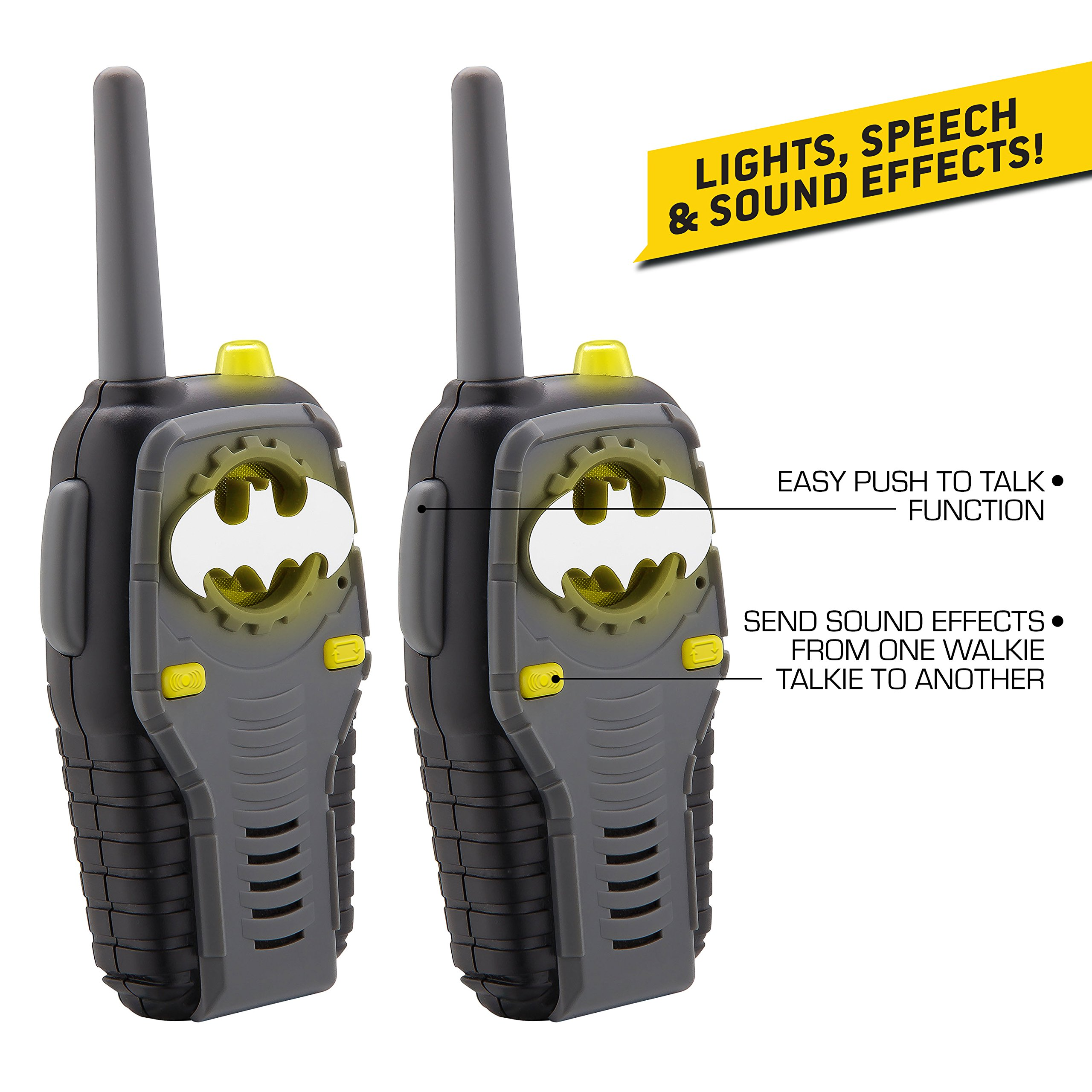 Batman FRS Walkie Talkies for Kids with Lights and Sounds Kid Friendly Easy to Use by eKids (Image #2)