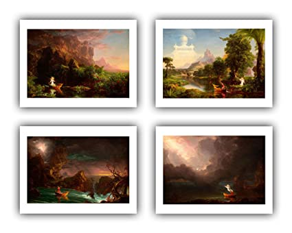 1549903379 Amazon.com: Renfield's Fine Art - Thomas Cole : ''Voyage Life I-IV ...