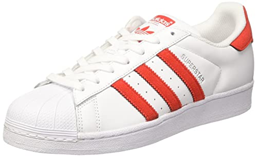 new styles d0a28 8a939 adidas Superstar Scarpe da Ginnastica Basse Uomo, Bianco (Footwear White  Solar Red),