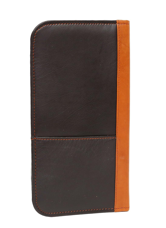 Ashlin Leather Bi-fold ticket wallet T7794-18-09 Black British Tan