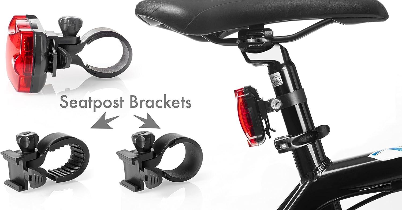 Se adapta a todas las bicicleta Faros delanteros y luces traseras f/áciles de montar con sistema de liberaci/ón r/ápida Mejor iluminaci/ón delantera y trasera TeamObsidian Juego de luces LED superbrillantes para tu bicicleta