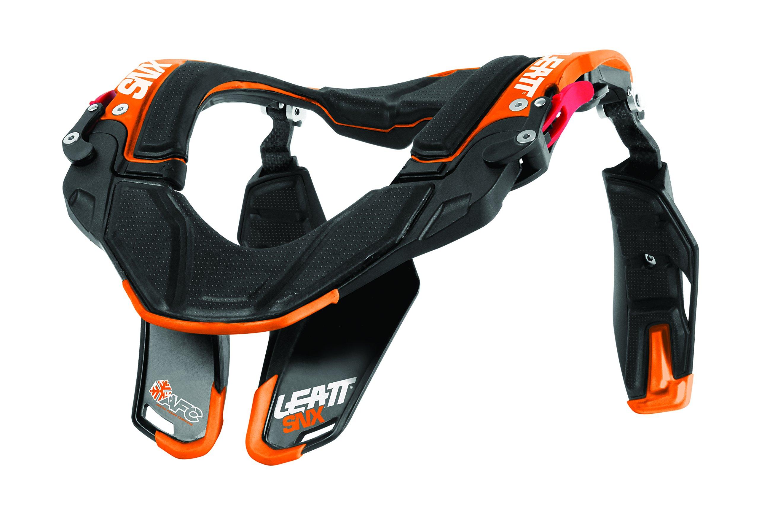 Leatt SNX Trophy Neck Brace (Black/Orange, XX-Large)